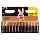 12x DURACELL  AA  BASIC  B12