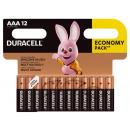 12x DURACELL  AAA  BASIC  B12