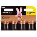 8x DURACELL  AA BASIC  B8
