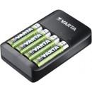 Punjač VARTA QUATRO 57652 + 4 rechargeable batteries Varta 2100 mah AA