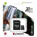 Kingston 32GB class 10 UHS-I U1 V10 A1 - 100MB/s + adapter