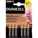 6x DURACELL AAA BASIC AAA B6