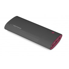POWER BANK 13800mAh URANIUM BLACK/BURGUNDY