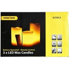 LED 3-er PAK Stolna svijeća sa daljinskim upravljanjem