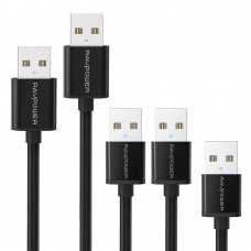 RAVPower 5-Pack [0,3m 0,9mx2, 1,8m 3m ] Micro USB Cables