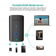 RAVPower FileHub Plus, Wireless Travel Router, SD Card Reader USB Portable Hard Drive