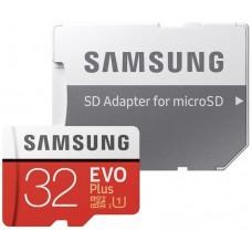microSDHC Samsung EVO PLUS 32GB UHS-I U1 class 10 20/95MB/s + adapter