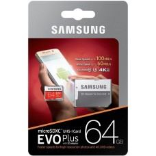Samsung EVO PLUS microSDXC 64GB UHS-I U3 class 10 60/100MB/s + adapter